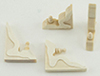 Dollhouse Miniature Corbel Brackets, 4/Pk