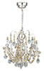 LED Silver 6-Arm Crystal Chandelier