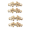 Dollhouse Miniature Dbl. Flower Drawer Pull, 4/Pk