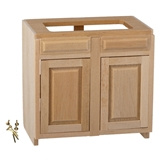 Dollhouse Miniature Assembled Cabinet, 3 In Base