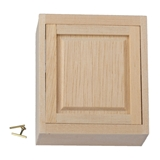 Dollhouse Miniature Assembled Cabinet, 2 In Upper