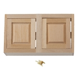 Dollhouse Miniature Assembled Cabinet, 3 In Upper