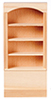 Dollhouse Miniature Bookcase, 1 Section 4 Shelves