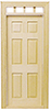 Dollhouse Miniature Traditional 6-Panel Door