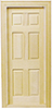 Dollhouse Miniature Interior 6-Panel Door W/Trim