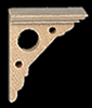 Dollhouse Miniature Victorian Eaves Bracket, 4/Pk