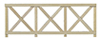 Dollhouse Miniature Cross buck Fence, 6/Pk.