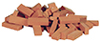 Dollhouse Miniature Bagged Common Brick, 50/Pk