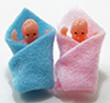 Dollhouse Miniature Babies In Blanket