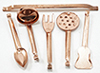 Dollhouse Miniature Copper Utensils 5Pk