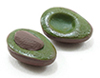 Dollhouse Miniature Avocados, Handcrafted 2/Pk