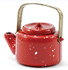 Dollhouse Miniature Small Red Kettle