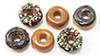Dollhouse Miniature Donuts, 6Pk