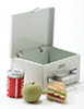 Dollhouse Miniature Lunch Box W/ Sandwich, Apple, And Drink