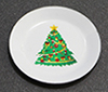 Dollhouse Miniature Christmas Plate