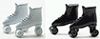 Dollhouse Miniature Roller Skates, Assorted White Or Black
