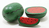 Dollhouse Miniature Wood Watermelon, 3Pk