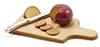 Dollhouse Miniature Cutting Board W/Cheese