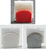 Dollhouse Miniature Napkin Holder, 1Pc Assorted Red, Silver, Or White