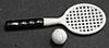 Dollhouse Miniature Tennis Set