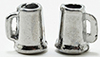 Dollhouse Miniature Pewter Beer Mugs, 2Pk