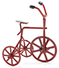 Dollhouse Miniature Red Tricycle