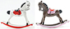 Dollhouse Miniature Rocking Horse, Assorted
