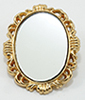 Dollhouse Miniature Oval Mirror, Brass