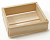 Dollhouse Miniature 4-Slat Wood Box