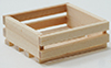 Dollhouse Miniature 8-Slat Wood Box