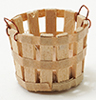 Dollhouse Miniature Basket, Small
