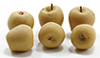Dollhouse Miniature Yellow Apples, 6Pc