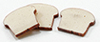 Dollhouse Miniature Slices Of Bread, 3Pc