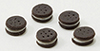 Dollhouse Miniature Chocolate Sandwich Cookie, 5Pk