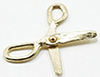 Dollhouse Miniature Gold Scissors, 1Pk
