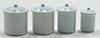 Dollhouse Miniature Canister Set, White