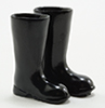 Dollhouse Miniature Black Rubber Boots