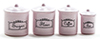 Canister Set, 4 Piece - Pink