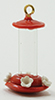 Dollhouse Miniature Humming Bird Feeder, Red