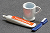 Dollhouse Miniature Toothpaste/Brush/Cup