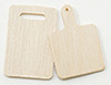 Dollhouse Miniature Cutting Board, 2Pc