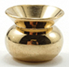Dollhouse Miniature Brass Spittoon