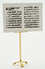 Dollhouse Miniature Brass Music Stand