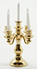 Dollhouse Miniature 5-Arm Candelabra