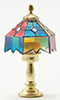 Dollhouse Miniature Tiffany Table Lamp