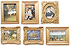 Dollhouse Miniature Framed Picture Frame (Assorted)