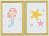 Mermaid Picture Set, 2 Piece Gold Frame