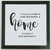 Home Picture, 1 Piece, Black Frame