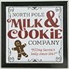 Christmas Milk & Cookies Picture, 1 Piece, Black Frame