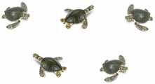 Dollhouse Miniature Micro-Mini Sea Turtles, 12pc